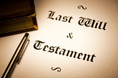 Last will and testament document