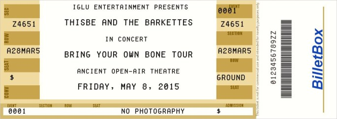 Barkettes ticket