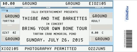 Barkettes #4 ticket