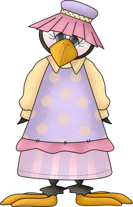 Penguin in Holstein Fashion outfit