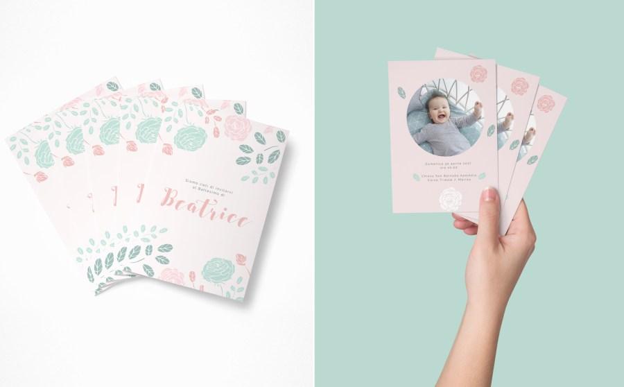 inviti battesimo formato cartolina photosì
