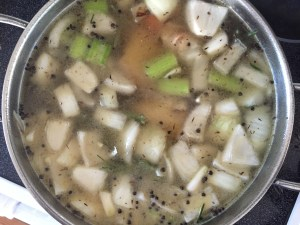 chicken-stock-cooking
