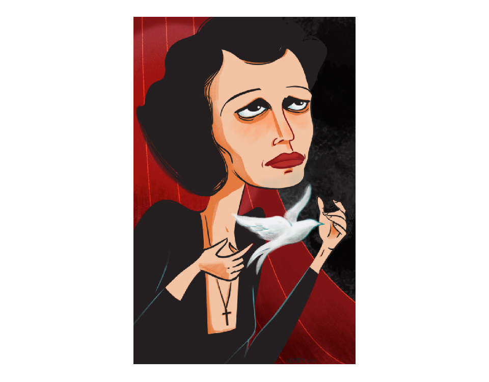Edith Piaf Illustration