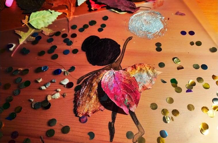 jesienne dekoracje z liści