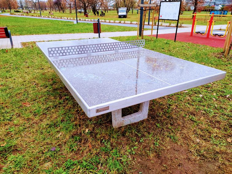 park zachodni stół do ping ponga