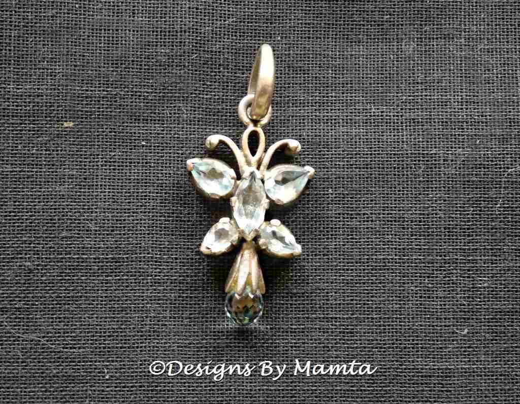 Aquamarine Butterfly Pendant