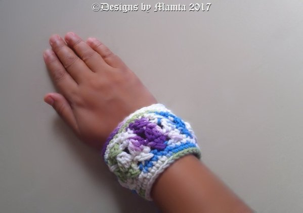 Chunky Textured Cuff Bracelet Crochet Pattern