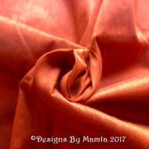 Copper Brown Art Silk Dupioni Fabric