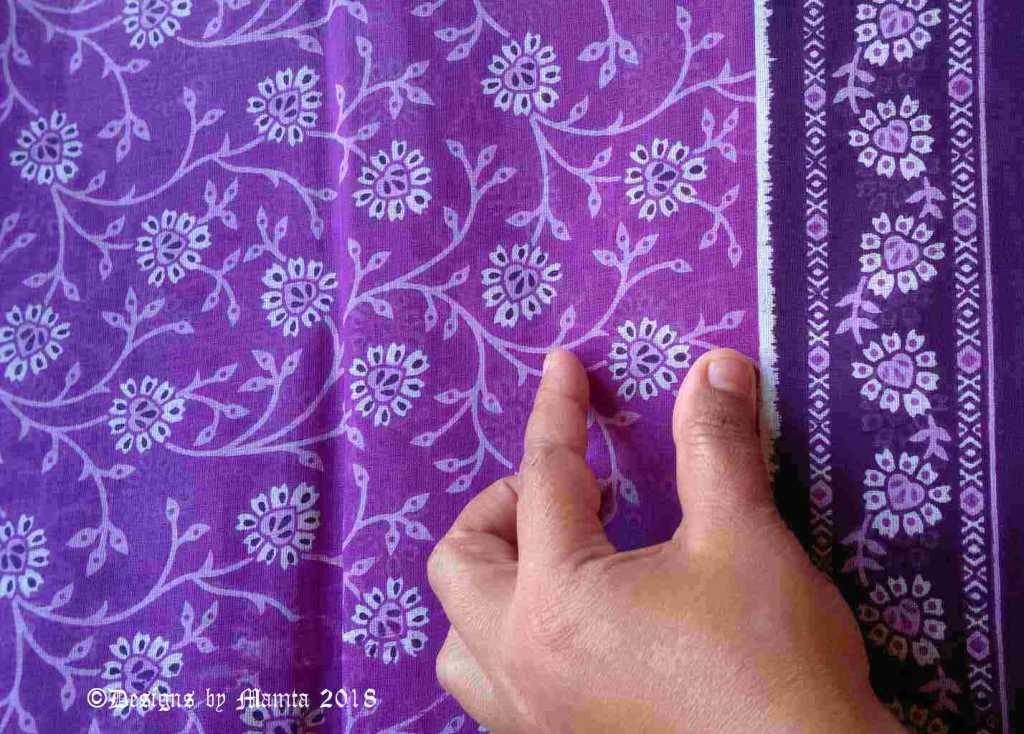 Cotton Sari Fabric By The Yard