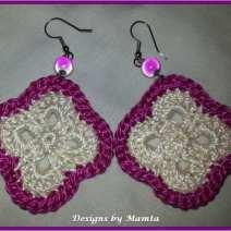 Flower Granny Crochet Earrings Pattern