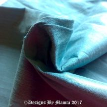 Pale Turquoise Blue Dupioni Silk Fabric