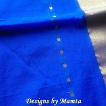 Royal Blue Sari Fabric By The Yard
