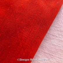 Tangerine Orange Red Dupioni Silk Fabric