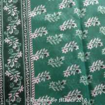 Teal Green Floral Sari Fabric