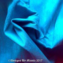 Turquoise Blue Dupioni Silk Fabric