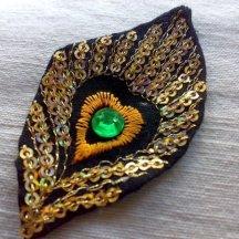 Peacock Feather Sequin Applique