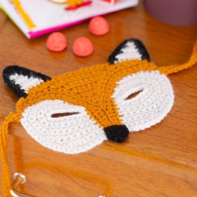 modele tricot pdf masque renard