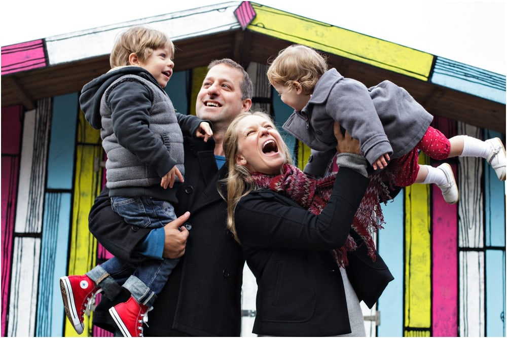A London-themed family photography session