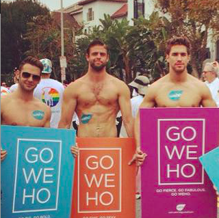 Gay West Hollywood as seen in ManAboutWorld gay travel magazine
