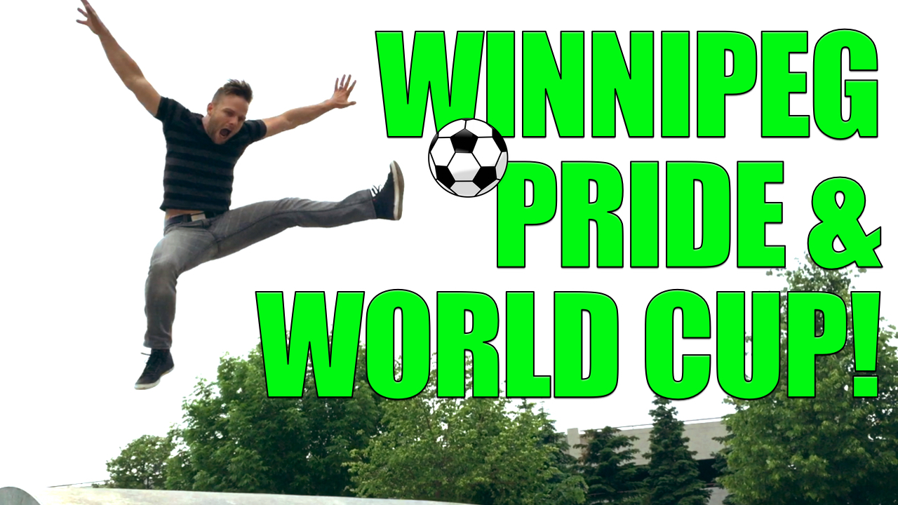 Tom kicks it up at Gay Pride Winnipeg, ManAboutWorld gay travel magazine
