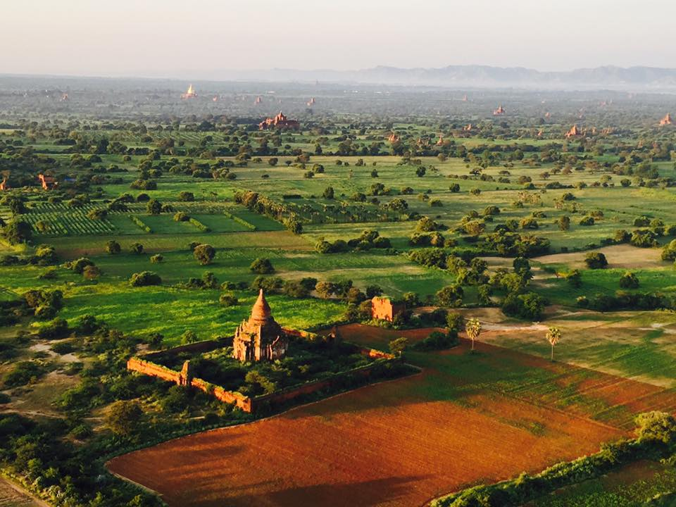 Myanmar from a balloon as seen in ManAboutWorld gay travel magazine by Kenny Porpora