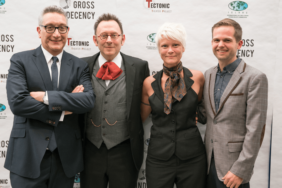 The GAYographer represented the newly minted OutRight Action International at Tectonic Theater's benefit reading of Gross Indecency: The Three Trials of Oscar Wilde