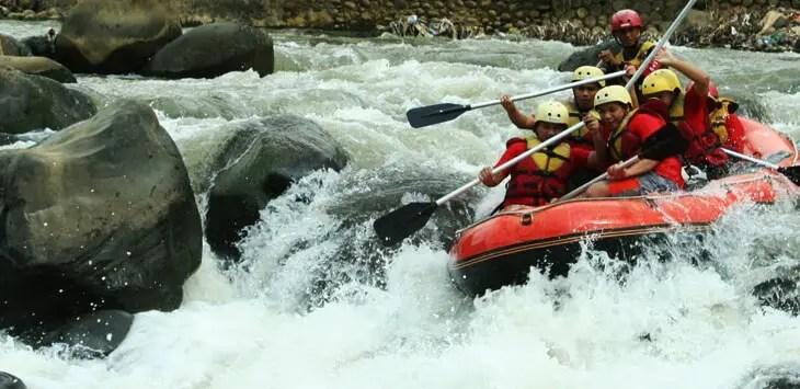Sungai Nimanga, lokasi Arung Jeram Timbukar, Manado