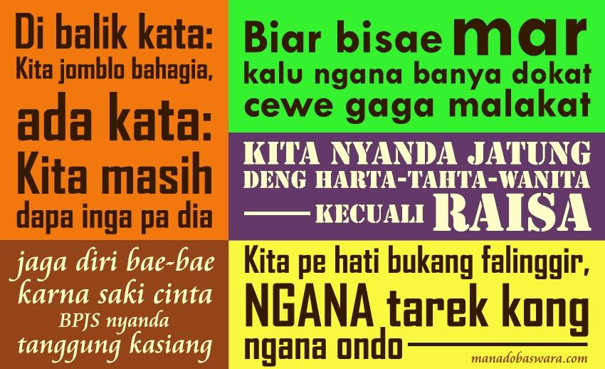 50 Kata Bijak Bahasa Manado Lucu Manado Baswara