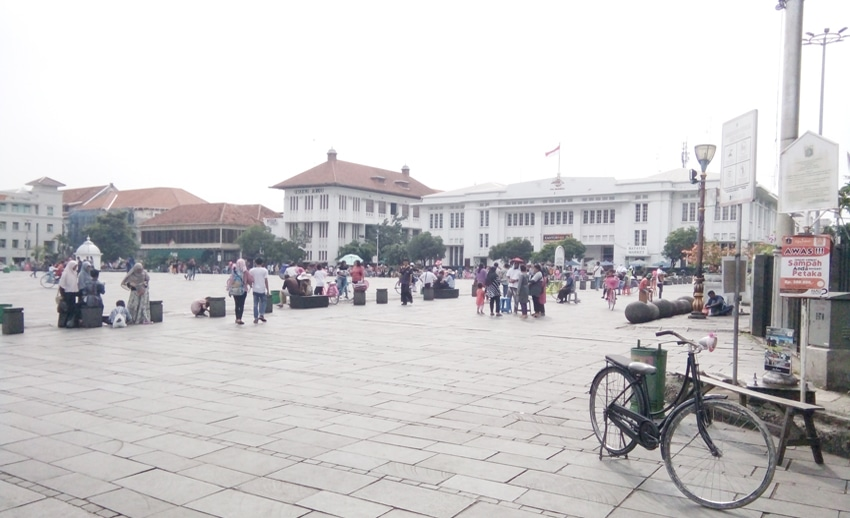 fatahillah square at the old town jakarta