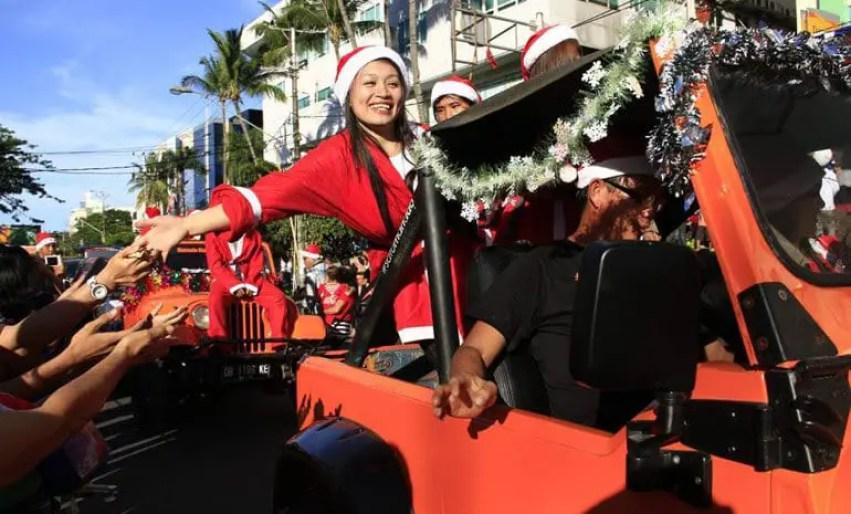 parade natal di manado