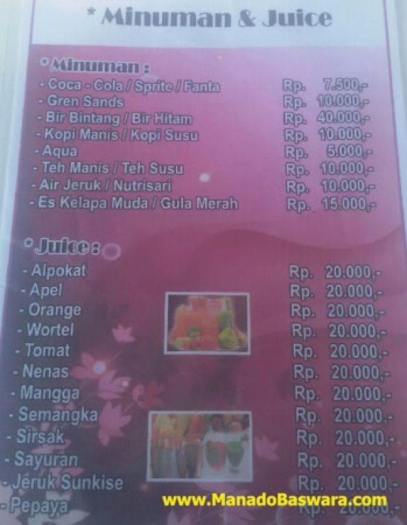 menu rm bumber haepawang manado