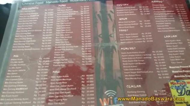 rumah makan dahsyat manado, tersedia menu khusus bagi yang diet