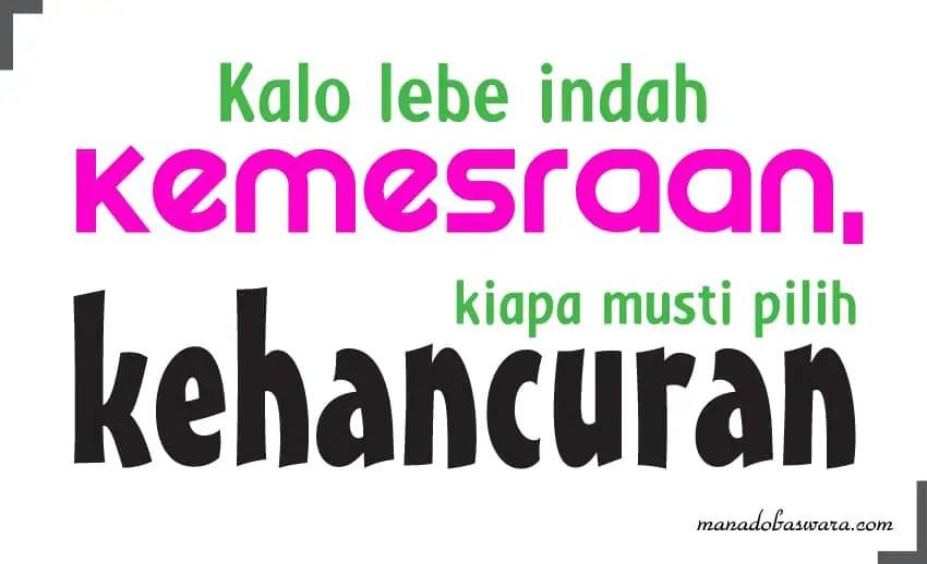 status bahasa manado dan artinya