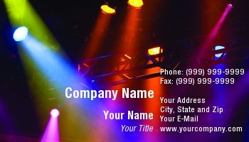 stage lighting business cards