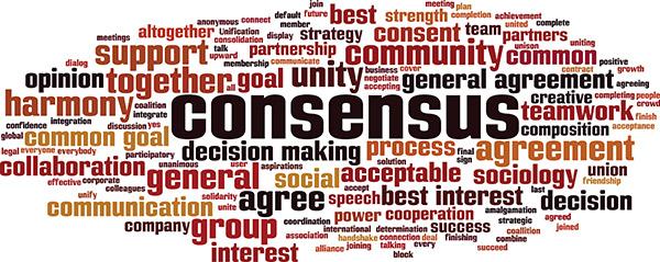 Image de nuage de mot consensus