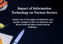 Impact of Information Technology on Various Sectors