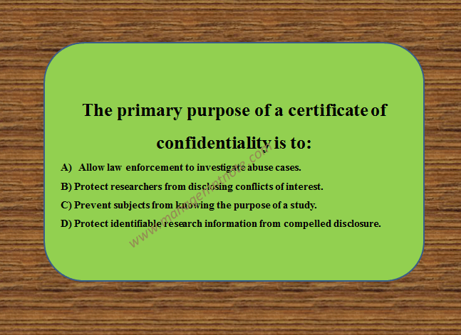 The primary purpose of a certificate of confidentiality is to: