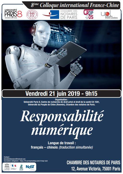 8ème colloque La responsabilité numérique 21 JUIN 2019