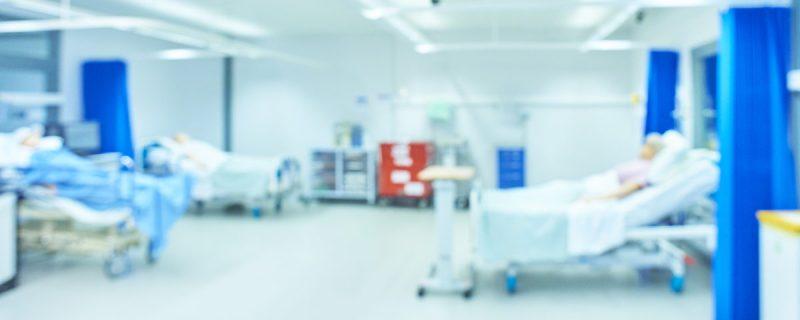 defocussed medical room