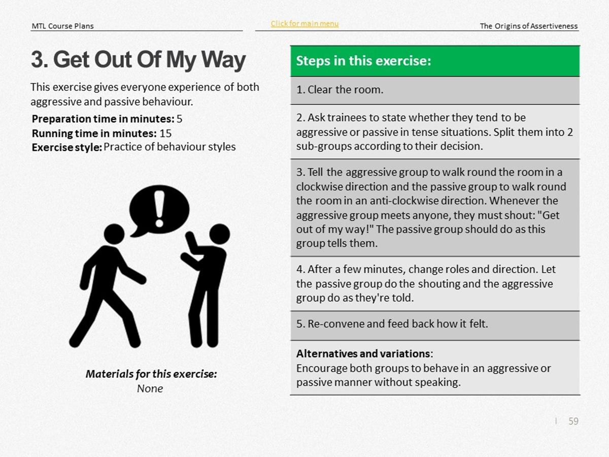 Mtl Course Plans The Origins Of Assertiveness