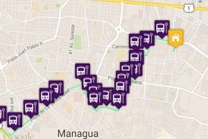 El transporte público de Managua en la palma de tu mano