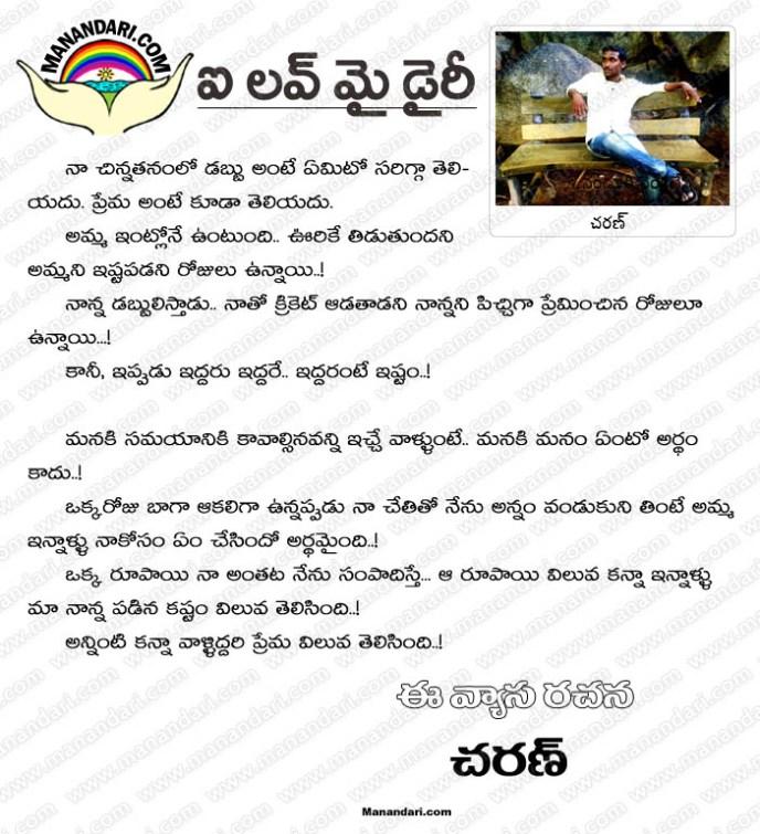 I Love My Dairy - Telugu Article