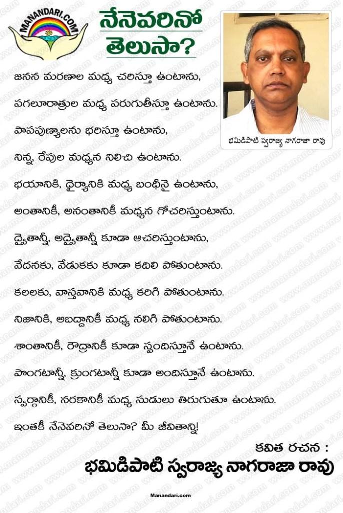 Nenevarino Telusaa? - Telugu Kavita