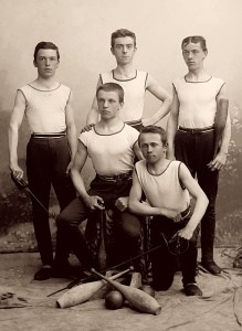 Members of Sokol club in sport costumes, approx. 1900. author: Šechtl a Vose?ek http://sechtl-vosecek.ucw.cz/cml/dir/group_photos_of_sokol.html Uploaded with approval of inheritors of the copyright