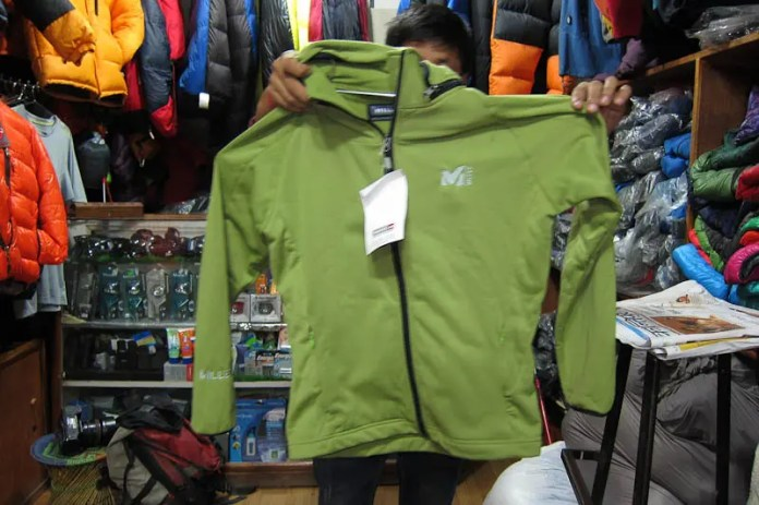 Thin polar fleece jacket $14