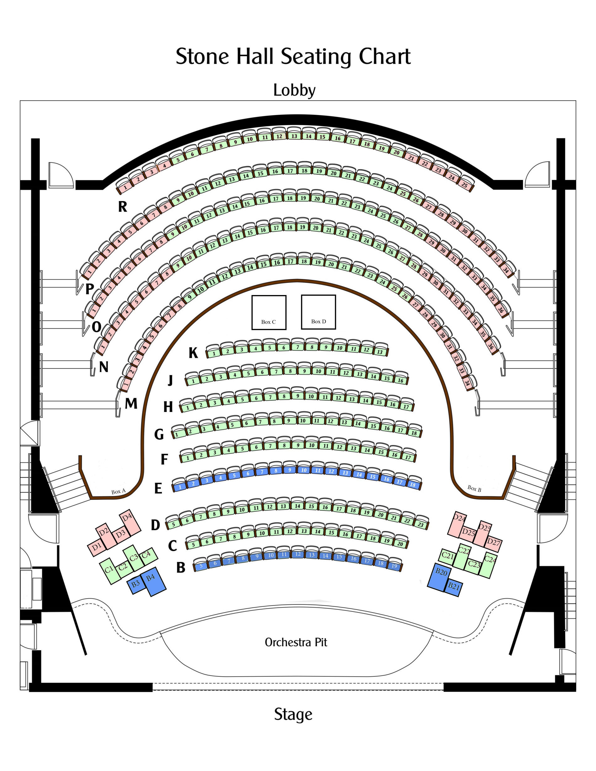 Form 941 Schedule B 2020 Seating Chart – Manatee Performing Arts Center