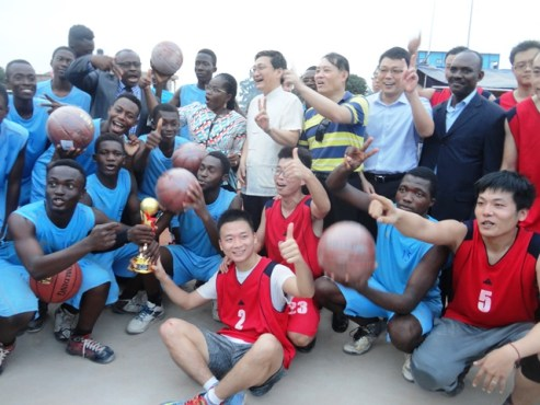 Réception infrastructures - Epanouissement et formation des jeunes : la maison des jeunes d'Amadahomé dotée de terrains de handball, de basketball et de volleyball