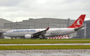Turkish A330 at Manchester Airport, 2019