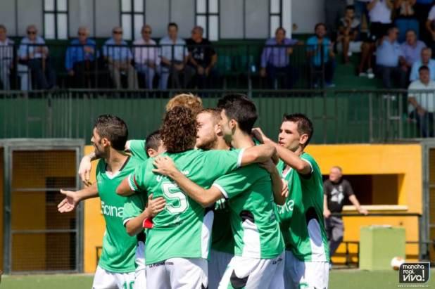 Los verdes celebran el primer gol marcado por Ramón