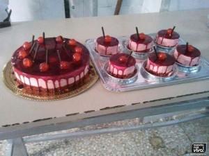Tarta y postres de cereza